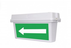 Аварийный светодиодный указатель потолочный с БАП